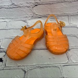 Trumpettetoo Orange Sandals with Ankle Buckle